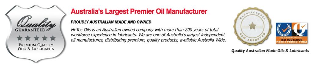 Hi-Tec Oils Manufactured Approval